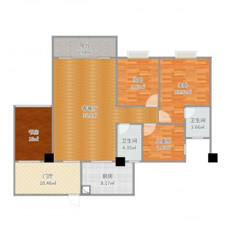 和诚家园4室2厅2卫1厨137.00㎡户型图