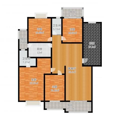 名雅花园4室2厅2卫1厨300.00㎡户型图