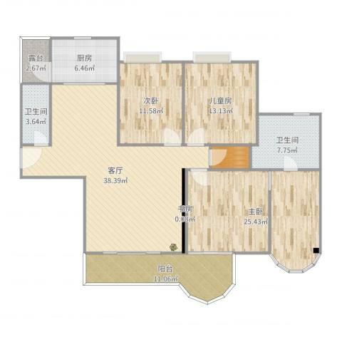 合生滨海城4室1厅2卫1厨153.00㎡户型图