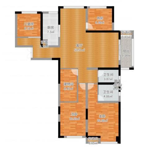 常州红星国际广场4室1厅2卫1厨172.00㎡户型图