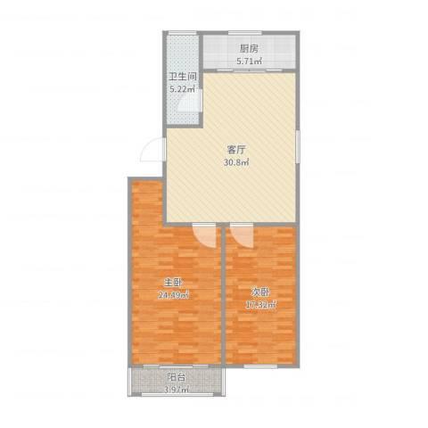 祥瑞家园2室1厅1卫1厨109.00㎡户型图