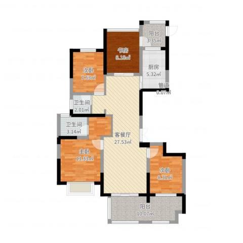 龙湾府4室2厅3卫1厨111.00㎡户型图