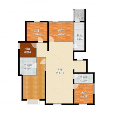 新梅江·万科柏翠园4室1厅2卫1厨218.00㎡户型图