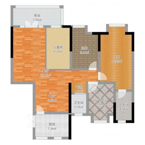 中冶枫树湾4室1厅2卫1厨138.00㎡户型图