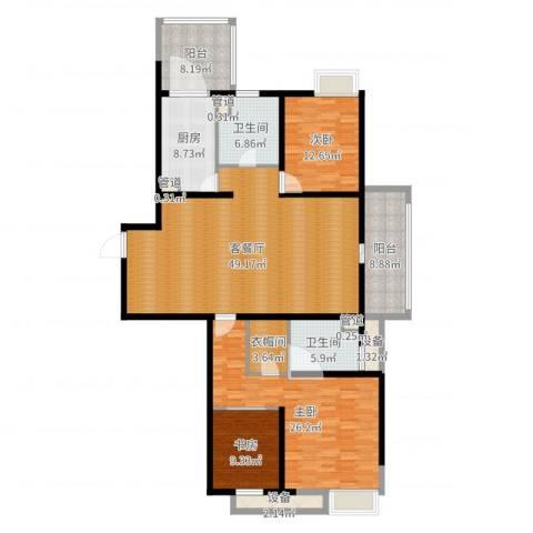 绿地21城A区3室2厅6卫3厨180.00㎡户型图