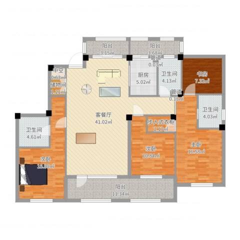 御景苑4室2厅3卫1厨165.00㎡户型图