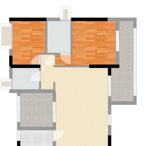 沿海丽水佳园2室2厅2卫1厨89.00㎡户型图