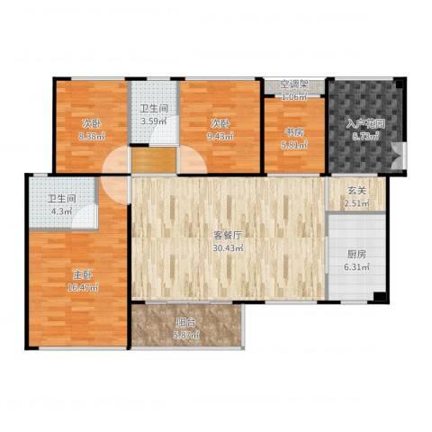 旭日领御二期4室2厅5卫1厨130.00㎡户型图