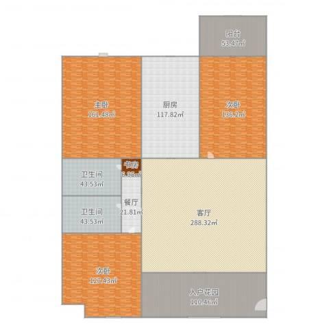 金辰・星河湾4室3厅2卫1厨1389.00㎡户型图