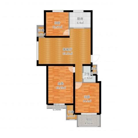 御景嘉园东区3室2厅3卫2厨119.00㎡户型图