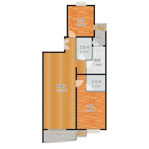 徐家汇景园2室2厅2卫1厨141.00㎡户型图