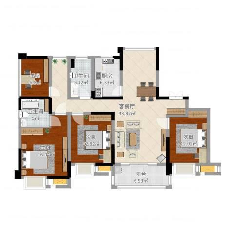 启迪方洲4室2厅2卫1厨144.00㎡户型图