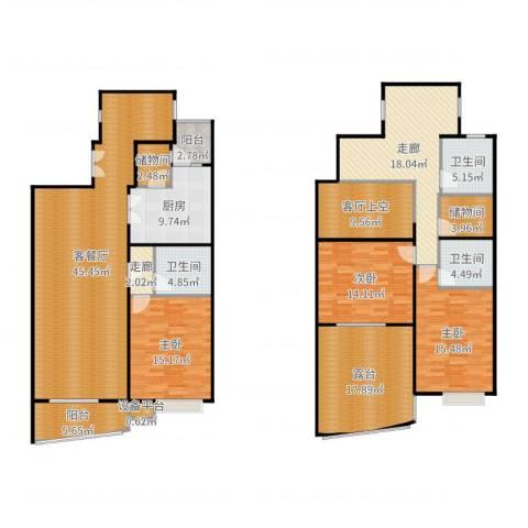 徐家汇景园3室2厅3卫1厨222.00㎡户型图