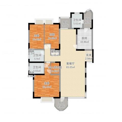 新世纪豪园3室2厅3卫1厨200.00㎡户型图