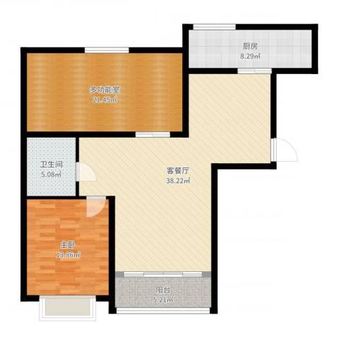 天和湾1室2厅1卫1厨115.00㎡户型图