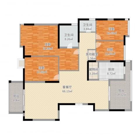 金地曲江尚林苑4室2厅2卫1厨234.00㎡户型图