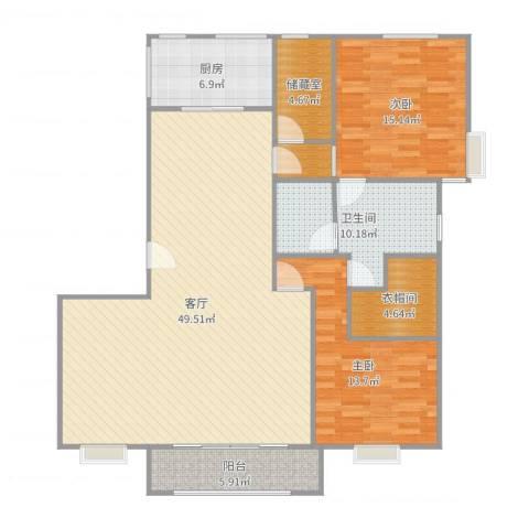 徐汇秀水苑2室1厅1卫1厨140.00㎡户型图