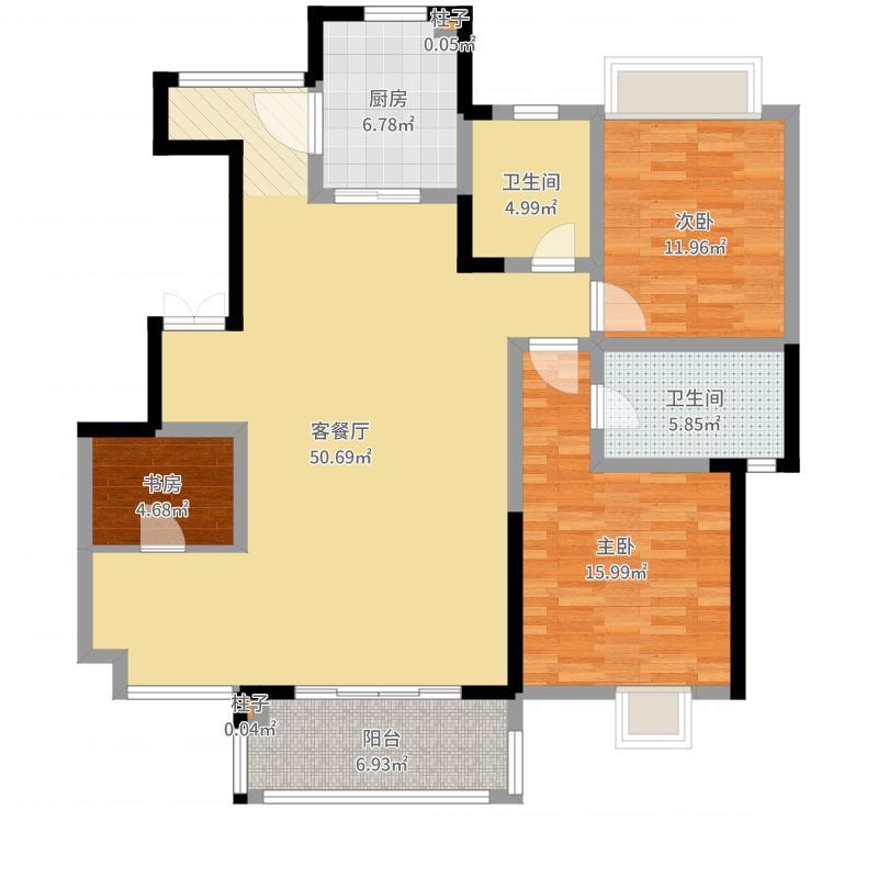 三利·麓山城145.87m²3室2厅1厨2卫