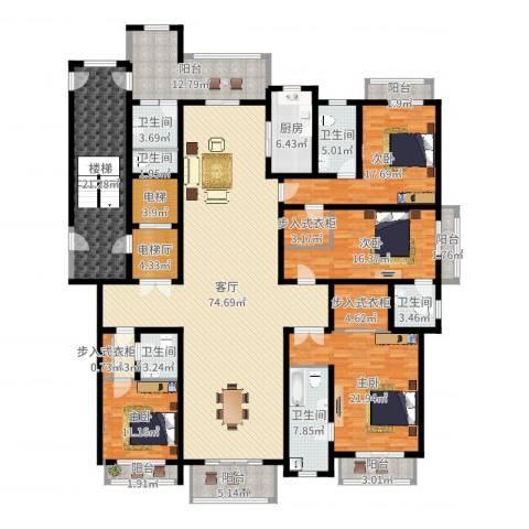 上海星河湾4室1厅6卫1厨300.00㎡户型图
