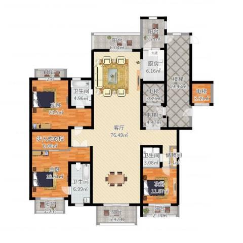 上海星河湾3室1厅3卫1厨264.00㎡户型图
