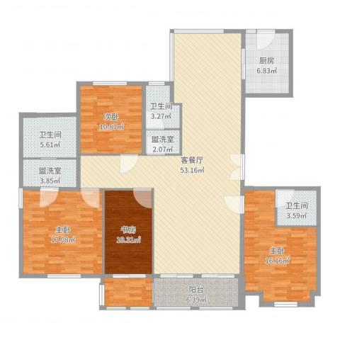 中式风格4室6厅3卫1厨178.00㎡户型图