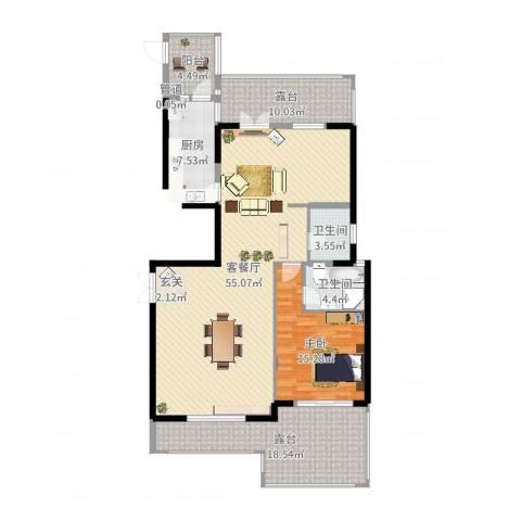 厦门新景缘1室2厅2卫1厨149.00㎡户型图