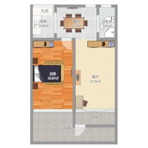 柳埠小区1室1厅1卫1厨70.00㎡户型图