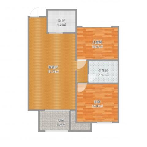 常山县紫荆花园23幢203-17022室2厅1卫1厨69.82㎡户型图