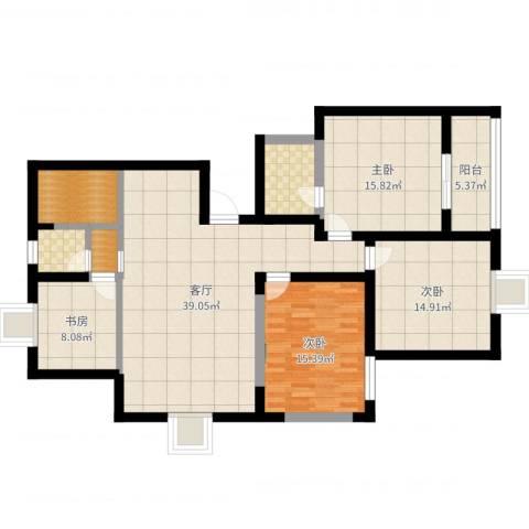 天华领秀城4室1厅2卫2厨139.00㎡户型图