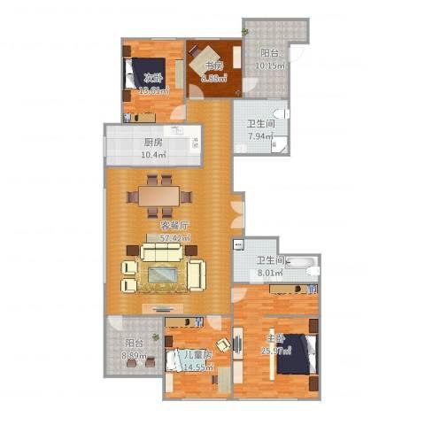 绿城玫瑰园4室2厅2卫1厨207.00㎡户型图