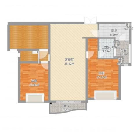 天际花园三期2室2厅1卫1厨120.00㎡户型图