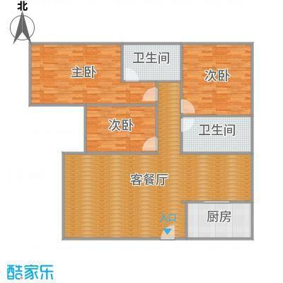 沪佳第一届设计大赛沪佳闸北店C户型-设计师-赵阳