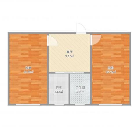 日晖六村1072室1厅1卫1厨60.00㎡户型图
