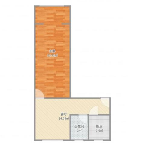 寿祥坊1室1厅1卫1厨55.00㎡户型图