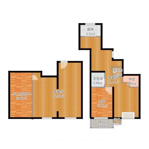 马陆清水湾公寓1室4厅1卫1厨194.00㎡户型图