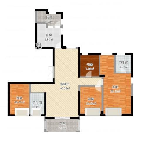 ART蓝山4室2厅2卫1厨157.00㎡户型图