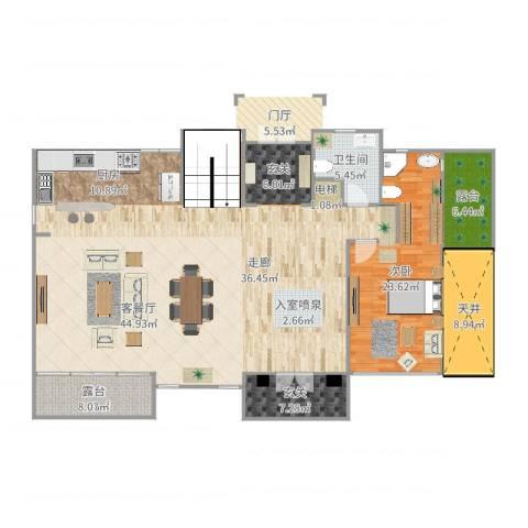 东郊罗兰别墅1室1厅1卫1厨188.00㎡户型图