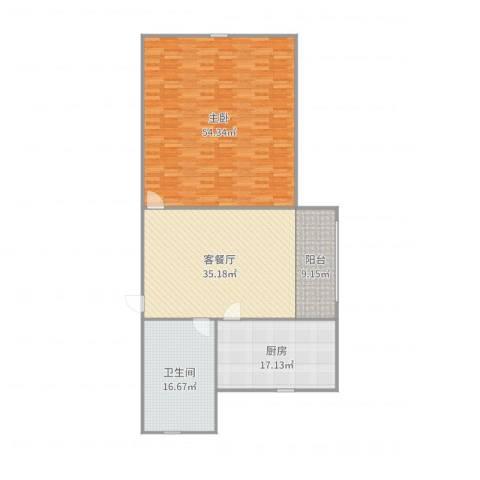 凌云新村4.6031室2厅1卫1厨166.00㎡户型图