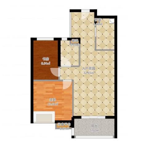 绿城之江1号3室1厅1卫2厨80.00㎡户型图