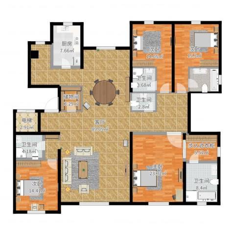 远洋天著4室1厅5卫1厨249.00㎡户型图