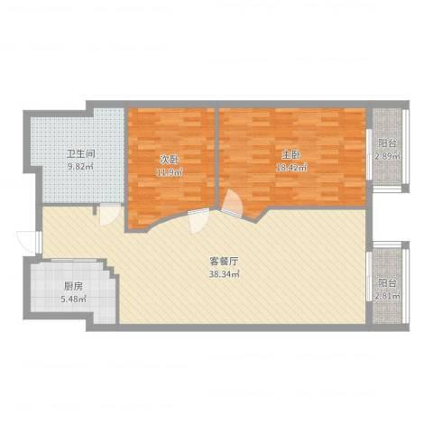 万都阿波罗2室2厅1卫1厨112.00㎡户型图