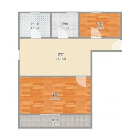 九弄小区 九弄小区2室1厅1卫1厨65.00㎡户型图