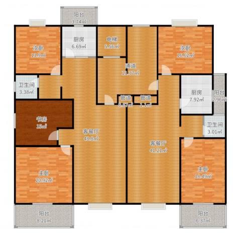 曲江汇景新都5室4厅6卫2厨307.00㎡户型图
