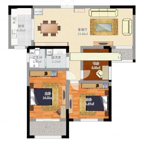 环东佳苑3室4厅1卫1厨105.00㎡户型图