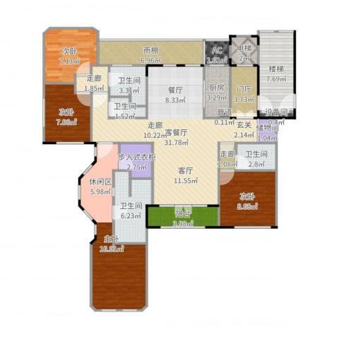 紫竹半岛4室2厅4卫1厨152.00㎡户型图