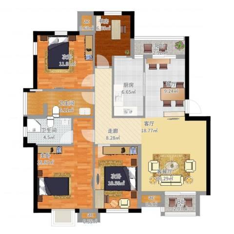 沧海御庭4室2厅2卫1厨149.00㎡户型图