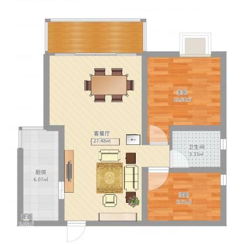 恒基雍景新城3室2厅2卫1厨74.00㎡户型图