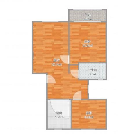 汇成四村2室1厅1卫1厨71.00㎡户型图