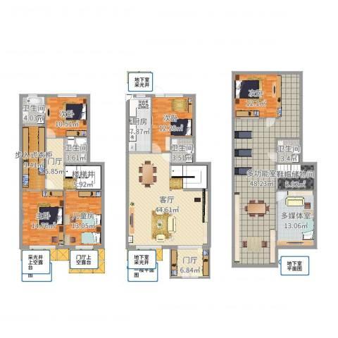 天茂湖5室1厅4卫1厨281.00㎡户型图