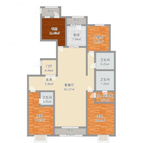富力城辰栖谷4室2厅3卫1厨204.00㎡户型图